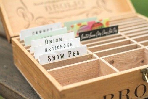 DIY seed or tea box