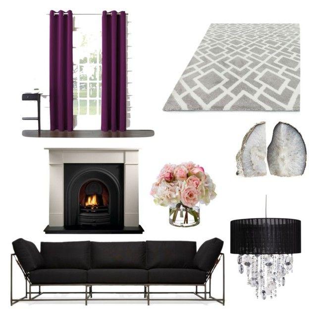 """classy living room"" by alexandra-almanza on Polyvore featuring interior, interiors, interior design, home, home decor, interior decorating, Sun Zero, Stephen Kenn, Diane James and living room"