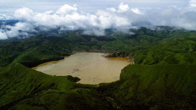 Lake Nyos (the deadliest lake in the world), Cameroon, Africa. has sever C02 gasses that have killed many people.