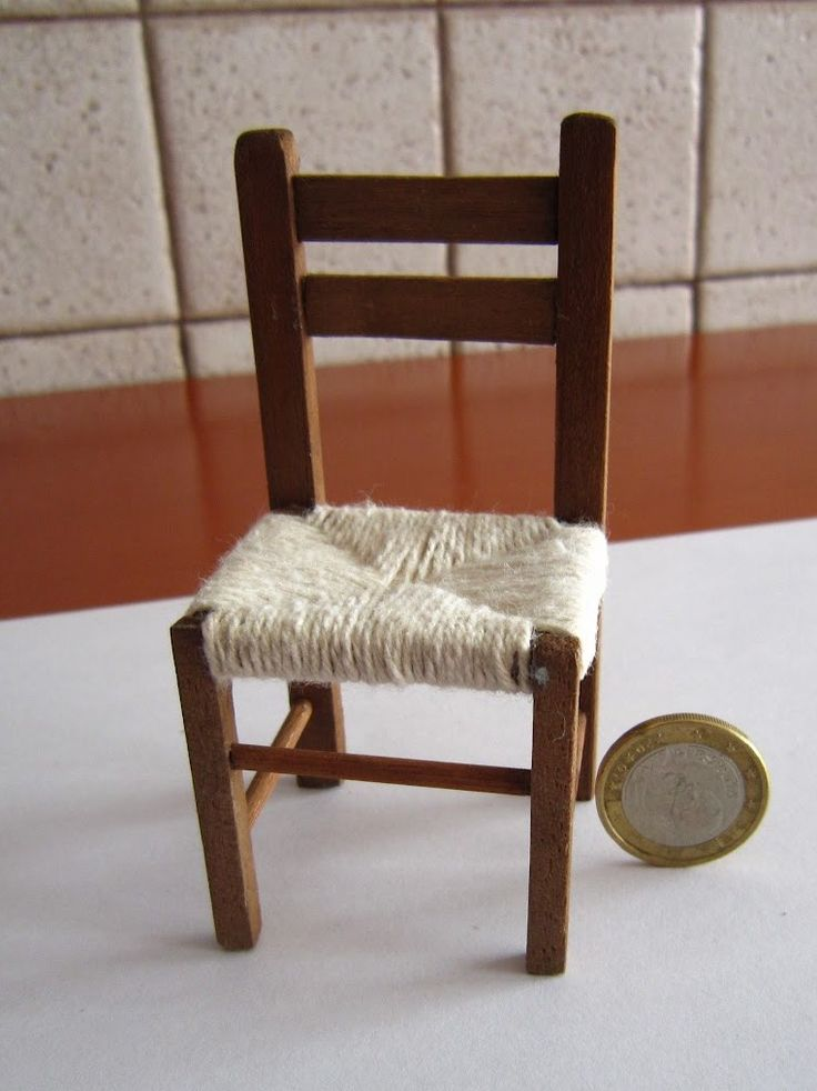 how to: chair and stool  for dollhouse/Miniature Z