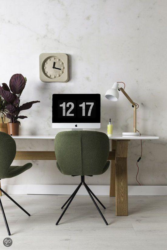 Bol Home Et Deco Moderne Design Klok Wit Koper 30 Cm