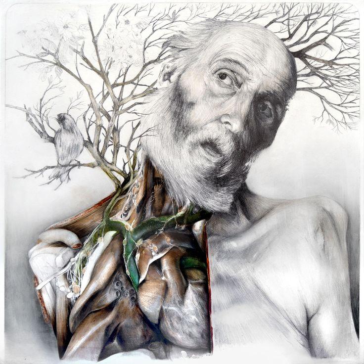 Title: Memories of a Body / Memorie di un corpo Dim: cm 60x60 Technique: oil and pencil on canvas / olio, matita su tela Year: 2015