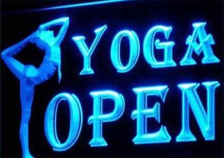 OPEN YOGA CENTER GYM Sport Neon Light Sign