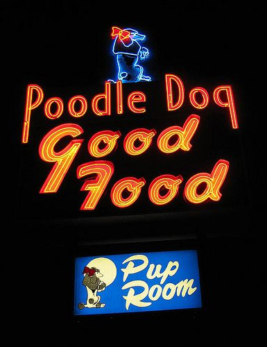 The Poodle Dog    A wonderful restaurant in Fife, Washington that's been going strong since the 1930s. Located along old Highway 99.