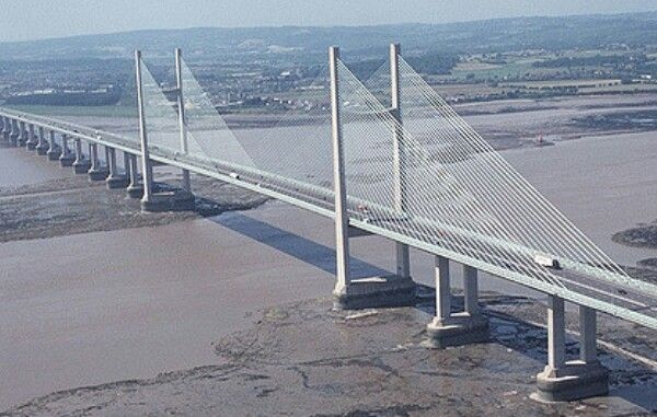 The Severn Bridge The main route into Wales from England is across the River Severn via the impressive suspension bridge. On clear days, the bridge can be seen for miles around.