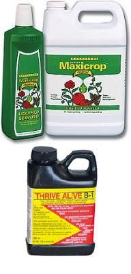 organic hydroponics supplements....I use these two in every drop of water, start to finish (Jason- Jason's Indoor Guide)