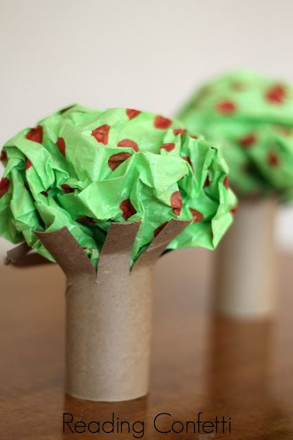 An easy apple tree craft: An easy apple tree craft