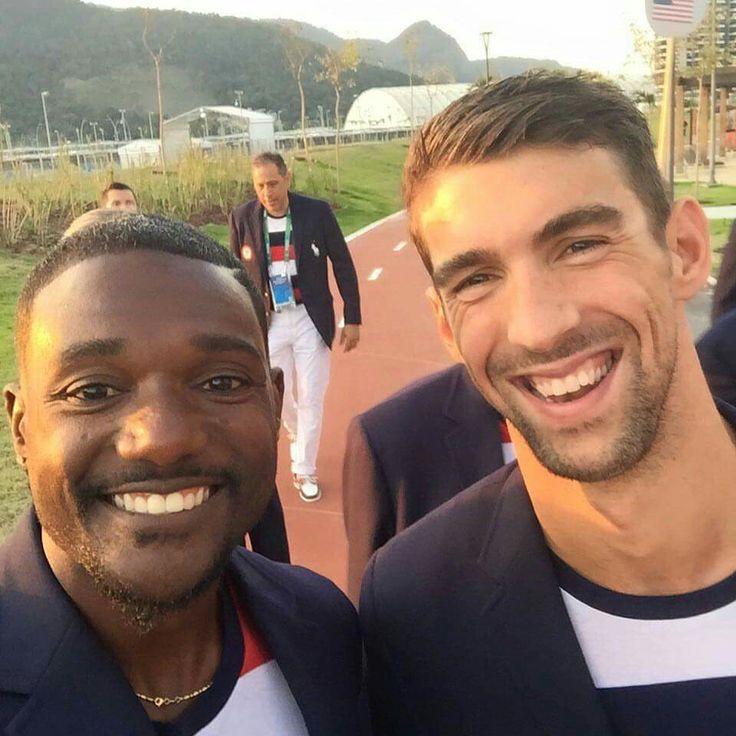 Justin Gatlin and Michael Phelps