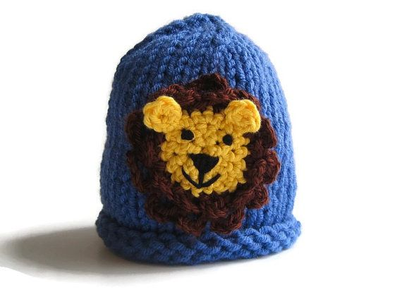 Chapeau de LION - Animal Hat - tricot bonnet enfant en bas âge - bébé garçon bonnet - bonneterie de bébé - tricot mode beanie cap - vêtements garçon - garçon