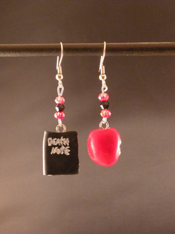 Death Note Earrings by MadHouseTrinkets on Etsy, $15.00
