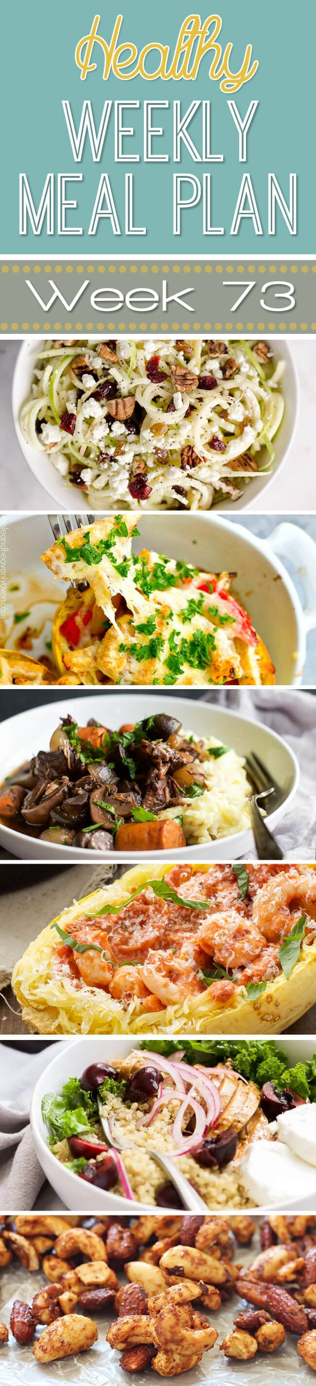Healthy Weekly Meal Plan #73