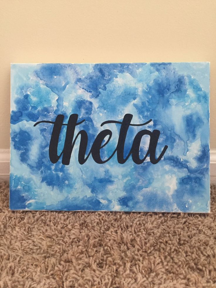 Watercolor Kappa Alpha Theta Canvas by ShopKaylieZander on Etsy https://www.etsy.com/listing/464963895/watercolor-kappa-alpha-theta-canvas
