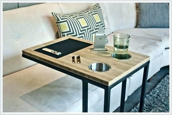 Couch Drink Holder Google Search Ikea Sofa Table Arm - Sofa Side Table With Cup Holder
