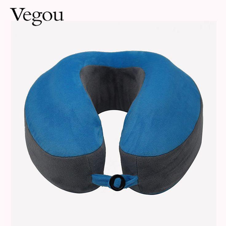Vegou Cervical Pillow Soft Travel Memory Foam Pillow U-Shape Neck Pillow Massage Headrest For Office Flight Airplane Fashion