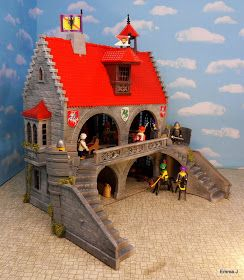 This is the Baron's Hunting Lodge. Created from the Playpeople castle an early version of Playmobil. ...