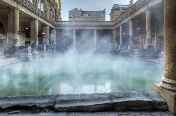 The Roman Baths in, er, Bath. 17gbp gets you into the baths and the Fashion Museum.