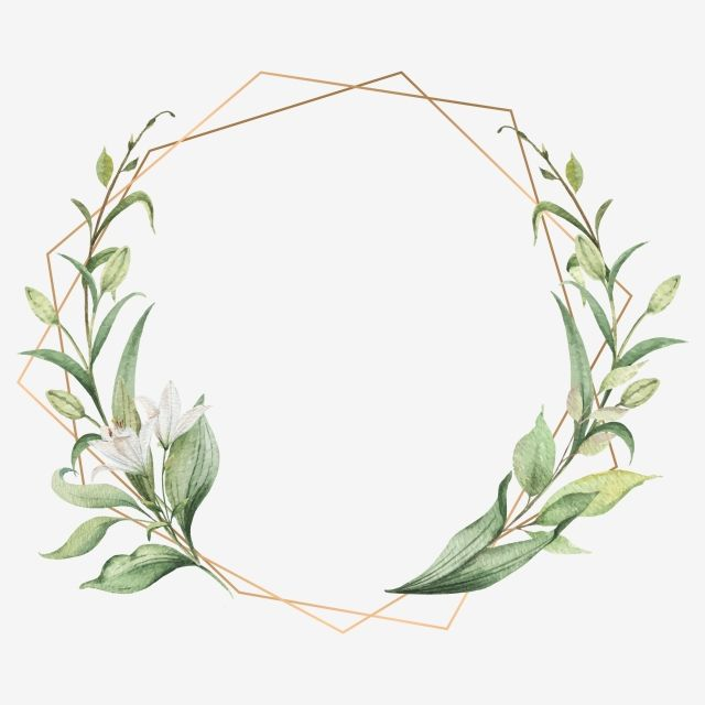 Elegant Leaf Frames Frame Wedding Watercolor Png And Vector With Transparent Background For Free Download Wedding Frames Flower Frame Flower Background Wallpaper