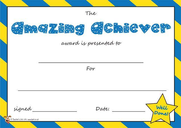 Teacher's Pet - The Super Reader Award Certificate - FREE ...