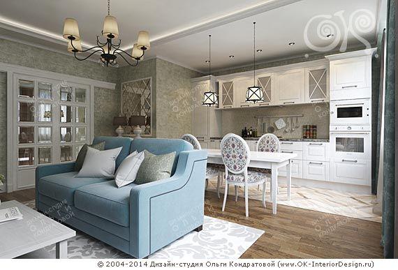 Интерьер кухни-гостиной - http://www.ok-interiordesign.ru/ph17_kitchen_interior_design.php