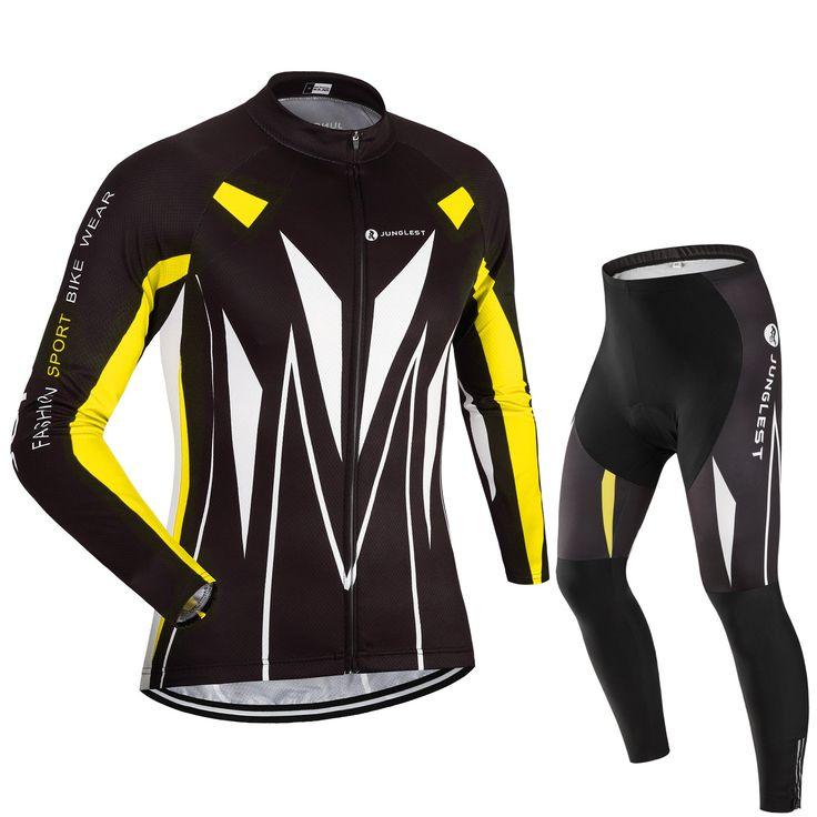 [Cojín 3D][traje tamaño:L] Pantalones Mangas libre secado culotte cómoda Acolchado larga rápido Trajes manga Cojín al Maillot Jersey Respirable Ciclismo ciclistas Ropa ciclo jerseys de