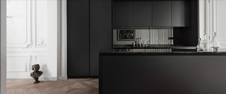 Siematic PURE S2 / Surfaces: SQ Lacquer Matt Black / Steven Christopher Design