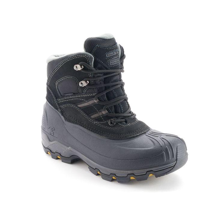 Kamik Warrior Men's Waterproof Winter Boots, Size: 12, Black