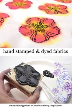 Hand printing fabrics with dye and fabric paint with Alison of @Alliedreambigger