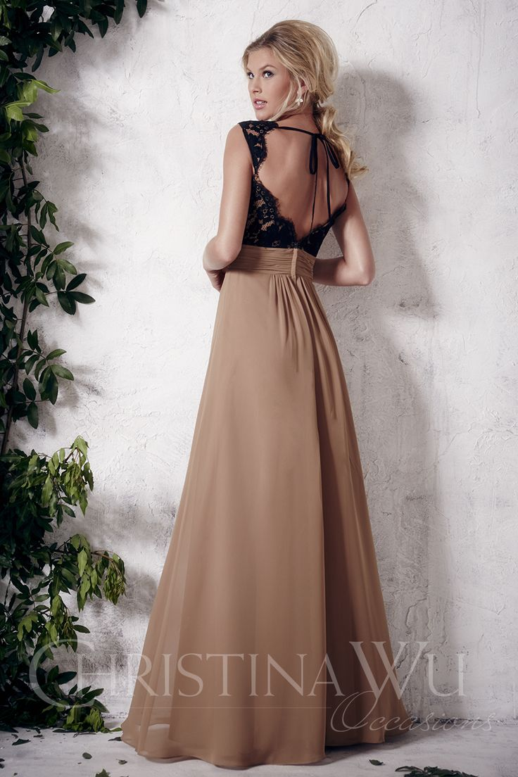 67 best bridesmaid dresses images on pinterest christina wu christina wu occasions style 22649 full length a line chiffon skirt with gathered waistband lace bodice with sweetheart neckline and open back ombrellifo Images