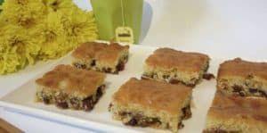 Sultana Slice With Brown Sugar Recipe Video Tutorial