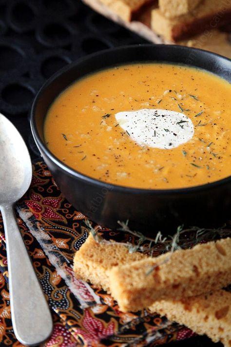 Velouté de courge butternut, carotte et gingembre