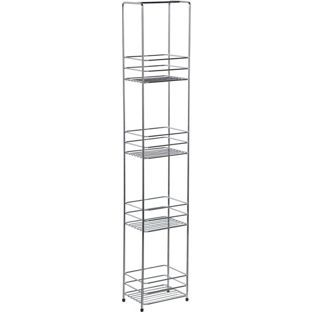 Buy HOME Wire 4 Tier Storage Unit - Chrome at Argos.co.uk, visit Argos.co.uk to shop online for Bathroom shelves and storage units