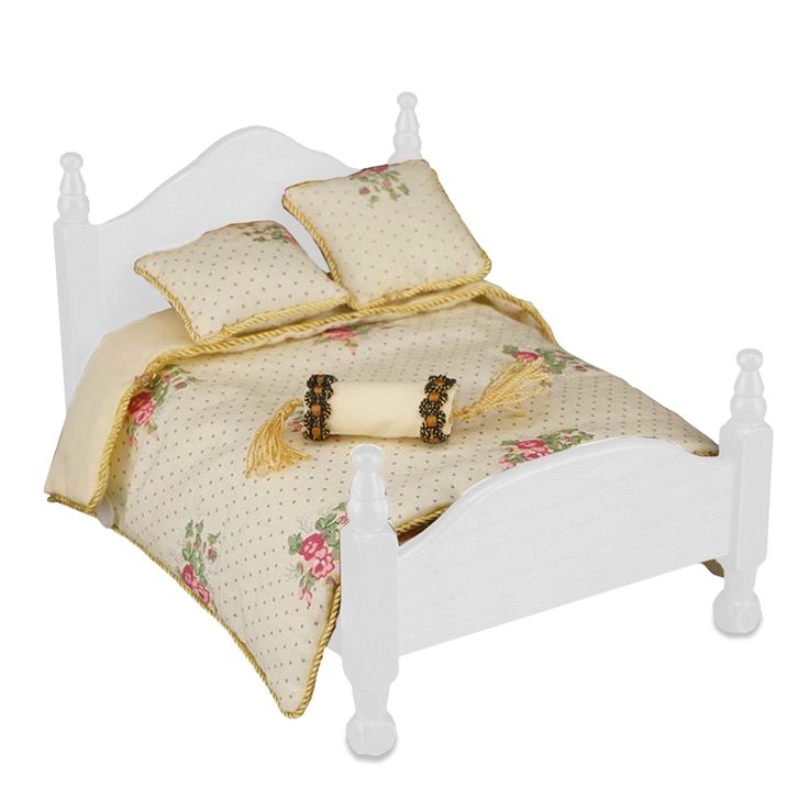 Rose Queen Bed Comforter Set | Mary's Dollhouse Miniatures