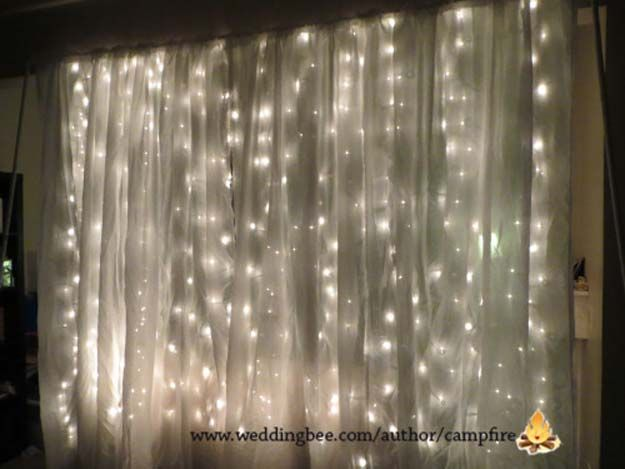 Best 25 photo booth backdrop ideas on pinterest diy photo booth 40 cool diy ideas with string lights solutioingenieria Images
