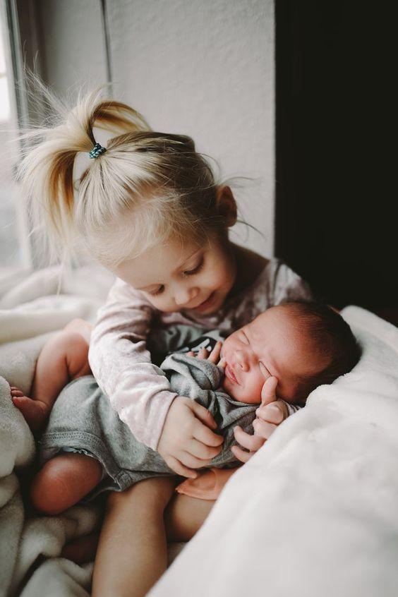 Geschwisterliebe! #newborn #Toddlers #childhoodunplugged #n