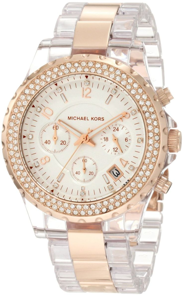 Michael Kors Quartz White Dial Clear Gold Tone Band - Womens Watch -  Zeekler Tried to find this at Macy\u0027s in Moscow- but it either wasn\u0027t there  yet or they ...