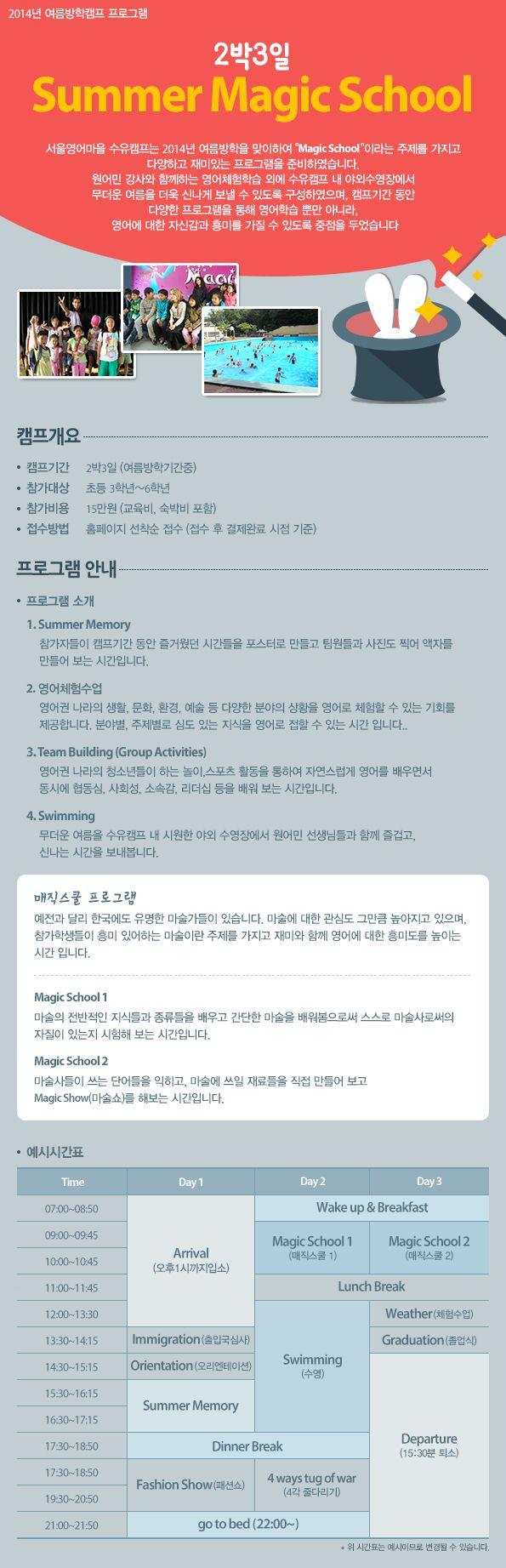 [수유영어마을]여름방학캠 프로그램 -2박3일 Magic School(김미진)