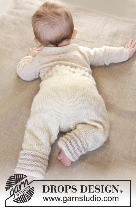 And of course you can't miss the matching pants! #babydrops25 #garnstudio #knitting