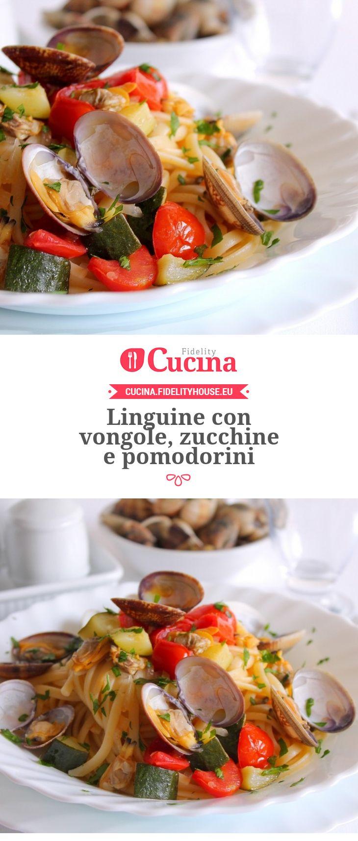Linguine con #vongole, #zucchine e #pomodorini della nostra utente Giovanna. Unisciti alla nostra Community ed invia le tue ricette!