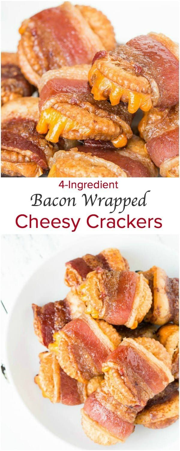 Bacon Wrapped Cheesy Crackers + Video