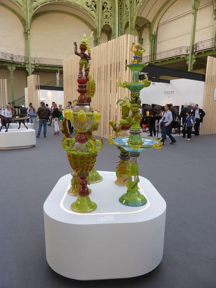 Bernard Heesen at the exhibition Dutch Belief during Révélations 2015 at the Grand Palais in Paris.