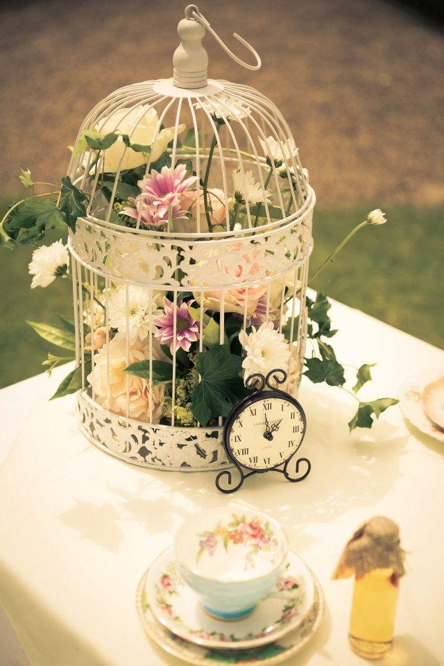 Mini birdcage centerpieces - photo#35
