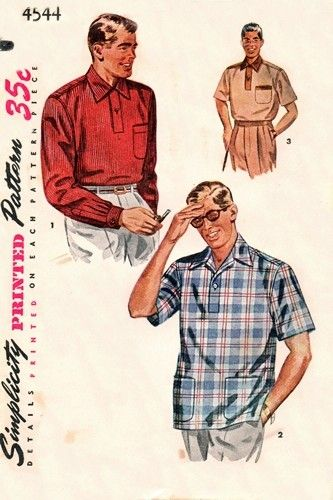 37 best Sewing Patterns : MEN'S RETRO images on Pinterest | Sewing ...