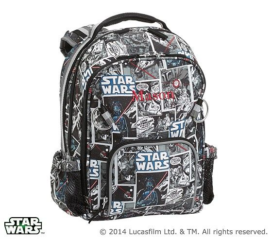 Printed Star Wars Darth Vader Backpack Pottery Barn