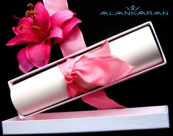 What you write in your wedding card should be just as significant...  A few simple and sincere words can speak volumes...  Invitation card can impress its recipients on many levels..  One of the sample of Stylish and Creative Designed Scroll Wedding Invitation Card just for you al