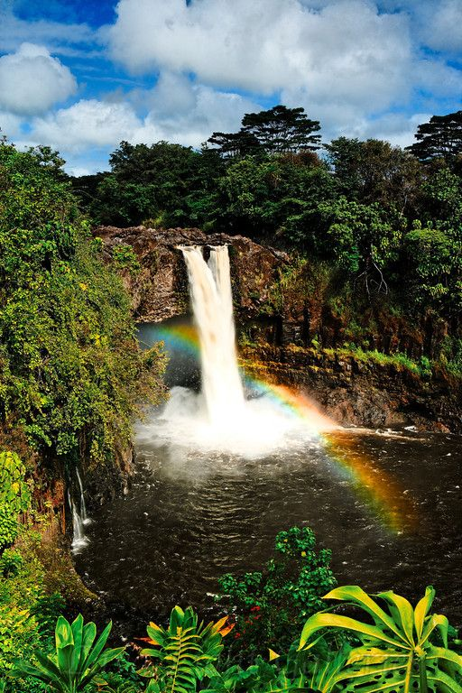 Rainbow Falls, Hilo, Hawaii.  The shadow of these falls fell across the window of the hospital room where I was born.