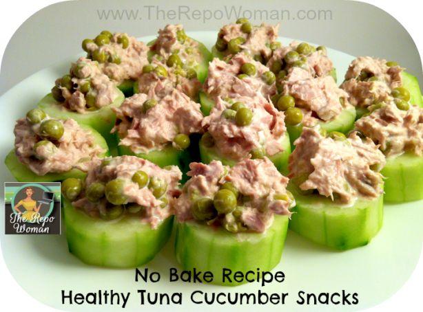 Tonijn met komkommer en kappertjes.....Lekker. En zó klaar!