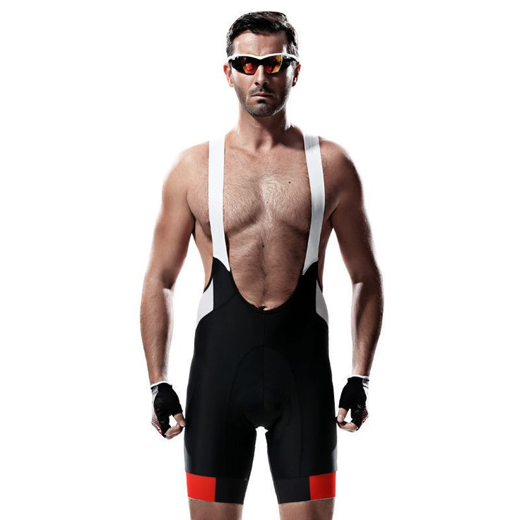 SANTIC Cycling Bib Shorts Men's Bike Cycling Bibs Pants Black Size S-3XL #Santic #BibShorts