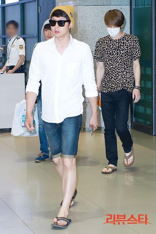 Park Yoochun and Kim Jaejoong