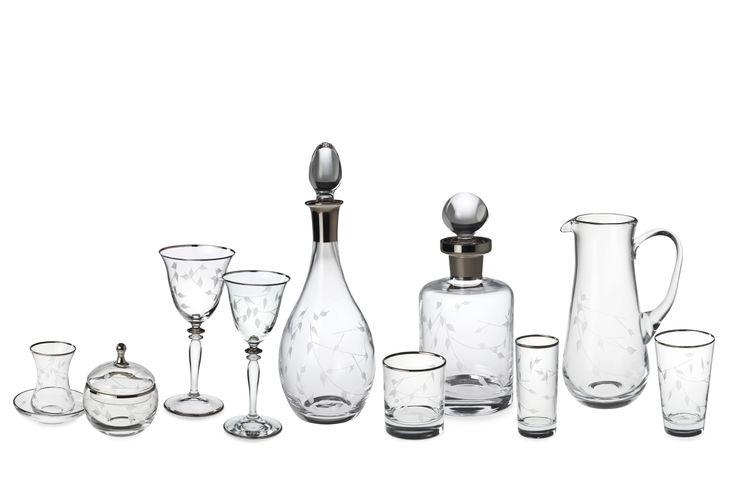 Bernardo Ninfa Cam Bardak Serisi / Glass Set #bernardo #glass #tabedesign