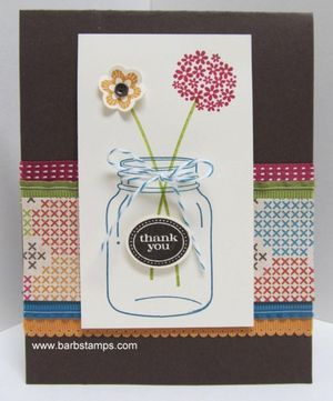 Perfectly Preserved stamp set: Canneri Framelit, Cards Perfect, Preserves Flowers, Jars Crafts, Mount Stamps, Retirement Products, Cards Papercraft Ideas, Paper Crafts, Perfect Preserves